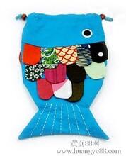 民族卡通鱼包民族风包包民族小挎包创新鱼形包可爱鱼形斜挎零钱包