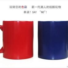 霍山陶瓷变色杯批发定做印制供应商心形把变色杯到货
