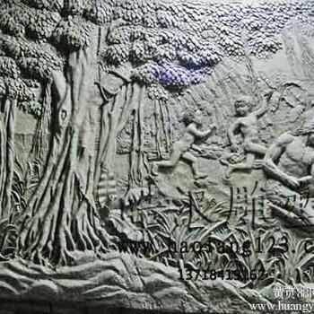 岩古代劳作题材浮雕壁画玻璃钢仿铜劳动场面浮雕壁画_人造砂岩浮