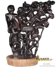 供应非洲马孔德木雕