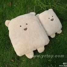 玩具批发大脸方熊,可爱方熊抱枕,方熊靠垫,方熊批发,汽车靠垫,暖