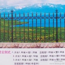 专供怀宁HY170150铸铁护栏护栏网PVC护栏铁艺护栏图片