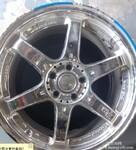 锐志轮毂改色,重庆轮毂翻新,重庆轮毂修复,图片