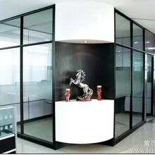 长沙写字楼高隔长沙玻璃隔断长沙办公室隔断长沙80双玻百叶