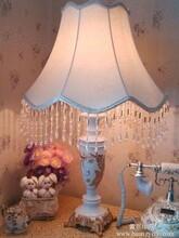 供应欧式台灯生产厂家欧式台灯价格布艺蕾丝台灯图片卧室床头灯