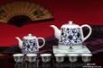 西安青莲陶瓷电热壶,青花缠枝莲纹古典烧水茶壶