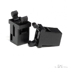 门扣DL-6/POM+PA66+SUS-黑色