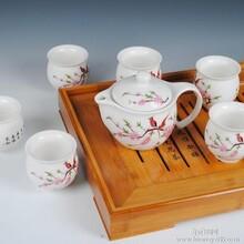 陶瓷茶具套装木茶盘