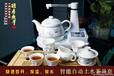 西安不锈钢电水壶,青花松鹤自动上水电热壶印字礼盒