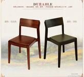 100%纯实木餐椅美式简约靠背椅子书房座椅水曲柳木图片