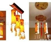 中式酒店茶餐厅个性灯具创意古典艺术灯饰仿古灯饰中国风茶楼装饰竹灯图片