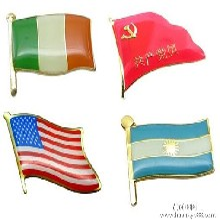 金属国旗纪念章定选国旗胸徽设计专业厂家直销图片