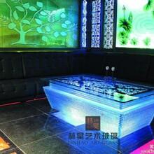 ktv茶几酒吧led发光茶几钢化玻璃桌