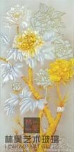 艺术玻璃雕刻背景墙装饰玻璃LH-074雅姿