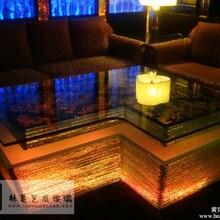ktv异形茶几发光玻璃茶几酒吧吧台LH-Y12