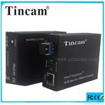 10/100/1000M单模单纤收发器通过一芯光纤传网络图片