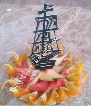 酒店夜总会酒吧果盘拼盘果盘制作水果雕刻专用仿西瓜皮雕刻塑胶花