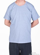 厂家直销新款男式t恤纯棉男式短袖T恤中老年加肥加大版图片