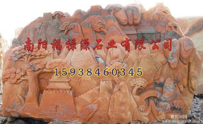 河南南阳镇平晚霞红石雕哪里有就找最好的福禄源