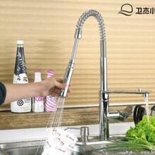全铜冷热厨房弹簧水龙头-351805-玉环联帮洁具
