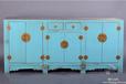 古朴彩漆现代新中式大理石台面田园做旧餐边柜实木家具储物柜简约