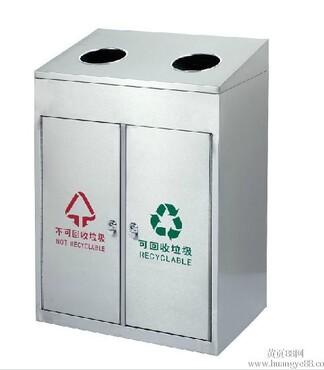 供应遂宁酒店用优质不锈钢室内方形垃圾桶 -不锈钢垃圾桶