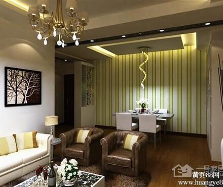 亭佳苑现代简约三房两厅一卫装修效果图