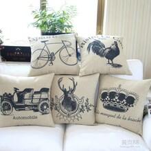 厂家直销欧式复古棉麻创意抱枕沙发靠枕汽车办公室靠垫布艺抱枕图片