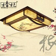 古香古色中式吸顶灯书房卧室灯具古典茶楼实木中式灯会所装修灯