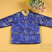 春节唐装冬季男童唐装棉服锦缎儿童中式礼服
