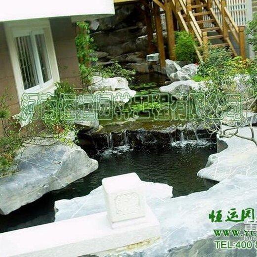 株洲室内假山鱼池图家庭养鱼池专注更专业
