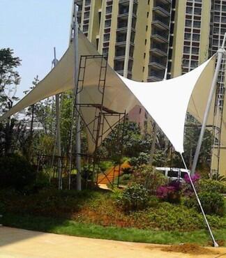 【滨海市大门入口膜结构景观棚、汽车停车棚园林景观膜结构制作安装