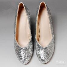 制鞋厂供应加工外贸时装真皮烫钻单鞋图片