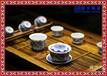 陶瓷日用经典茶具套装生产精美青花花卉工艺茶具礼品定做