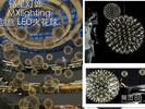 商场中庭天井装饰灯具厂家批发新款LED烟火花LED圆球吊灯时尚LED星星球灯