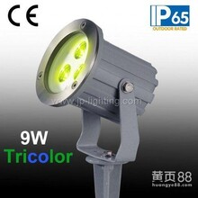 JP-83836压铸铝灯体三色LED景观灯/全彩色LED庭院灯RGBLED草坪灯/带地插图片