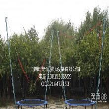 2016河南好奇乐厂家供应儿童单人钢架手动蹦床蹦极游乐设备图片